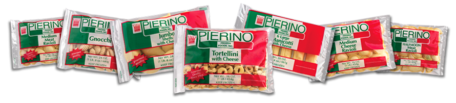 peirinos frozen food tortellini ravioli manicotti retail packages